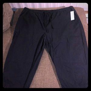 NEW Women's Croft & Barrow Black Capris Size 1X